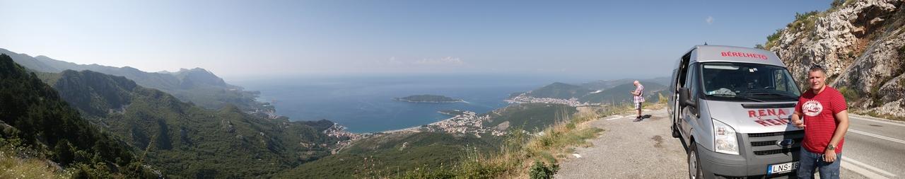 Montenegró panorámakép